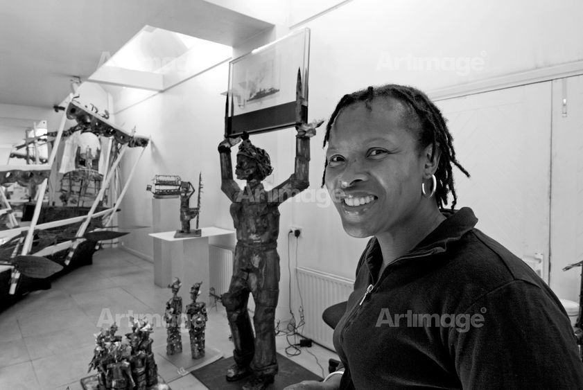 Enlarged version of Sokari Douglas Camp, studio, London, 2005