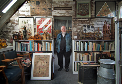 Sir Peter Blake, studio, London, 2005