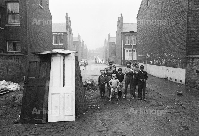 Enlarged version of North of England: Bonfire night, Moss Side, Manchester, 1972