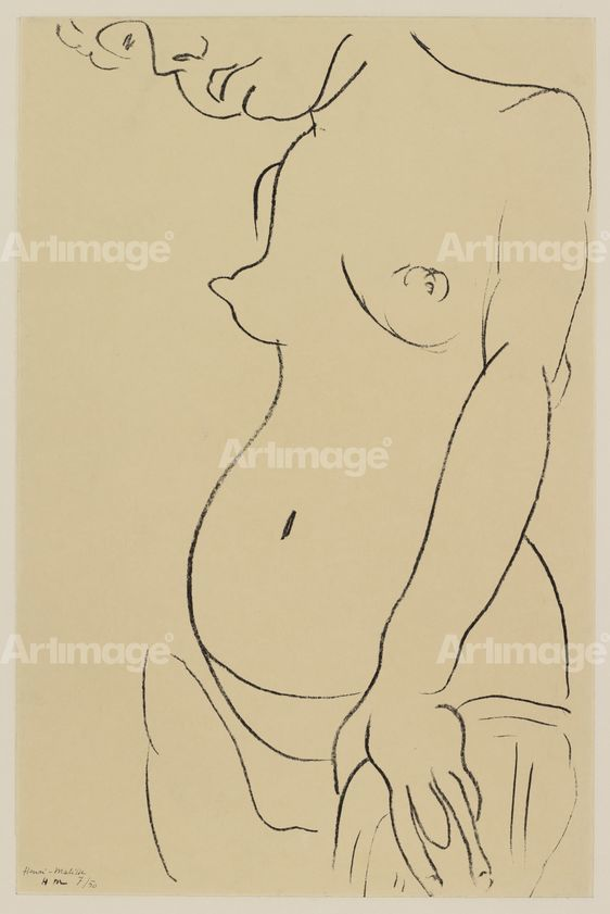 Enlarged version of Torse Au Visage Coupe Torso, Face Partly Showing, 1912