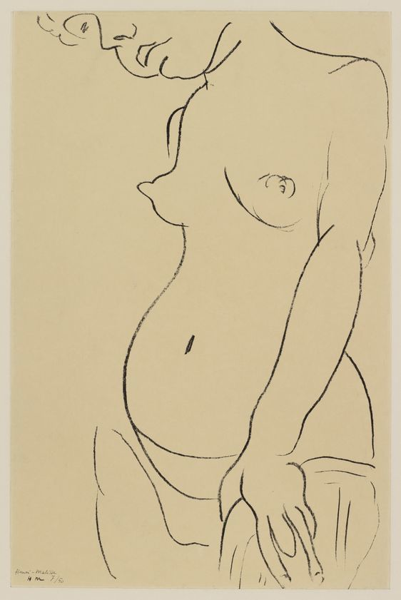 Torse Au Visage Coupe Torso, Face Partly Showing, 1912