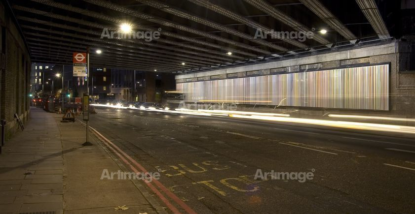 Enlarged version of Poured Lines: Southwark Street, 2006