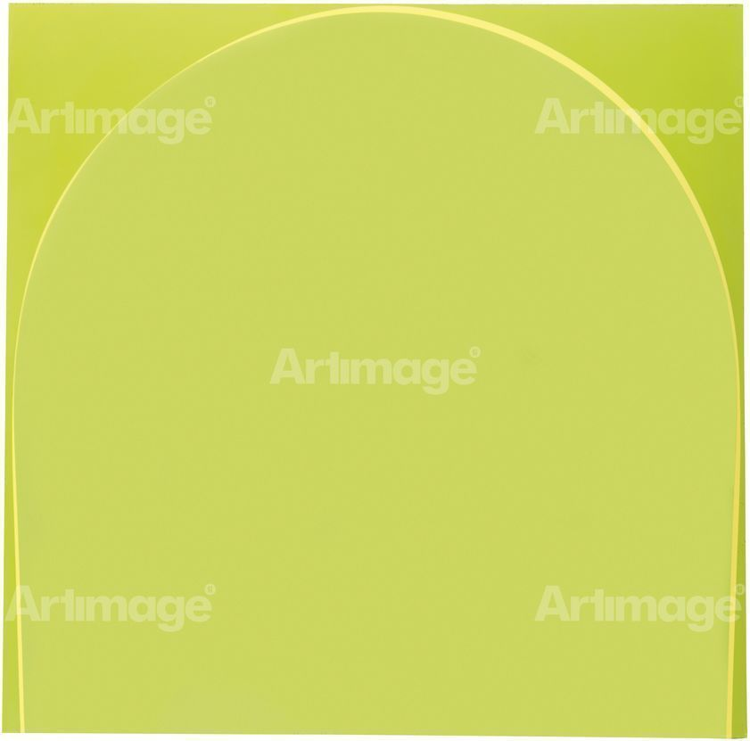 Poured Painting: Lime Green, Pale Yellow, Lime Green, 1998