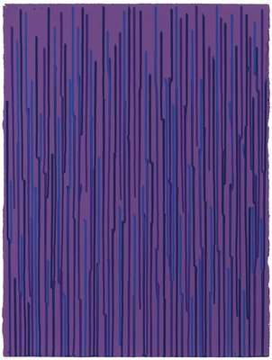 Staggered Lines: Violet, 2010 By Ian Davenport