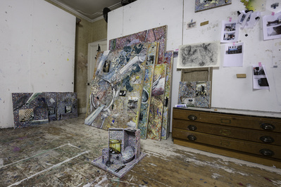 Jeffrey Dennis's studio, London, 2015