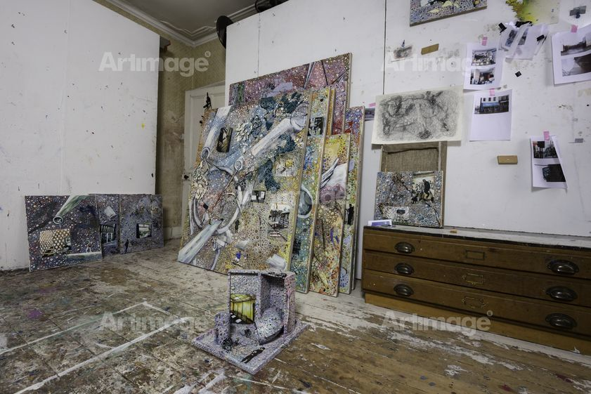 Enlarged version of Jeffrey Dennis's studio, London, 2015