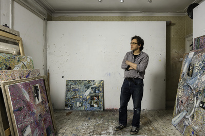 Jeffrey Dennis in his London studio, 2015