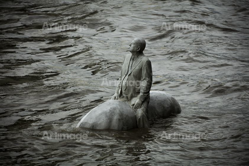 Enlarged version of The Rising Tide, Thames, London, 2015