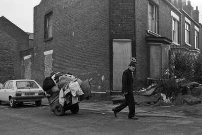 Scrap collector, Sheffield, March 1981 By Martin Jenkinson