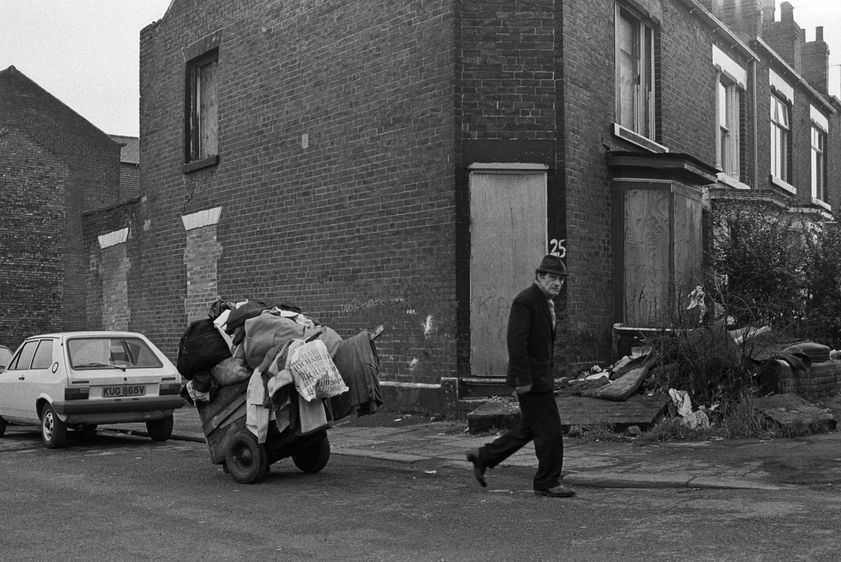 Scrap collector, Sheffield, March 1981