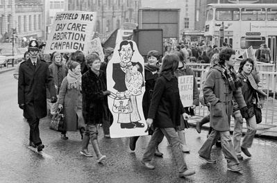 National Abortion Campaign March against John Corrie MP's bi...