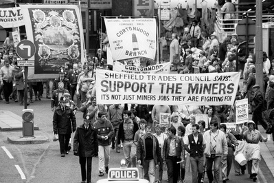 Sheffield Trades Council march in support of striking miners...