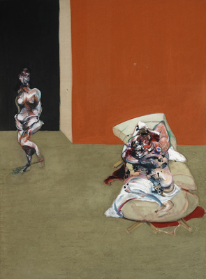 Crucifixion, 1965 (left panel) By Francis Bacon