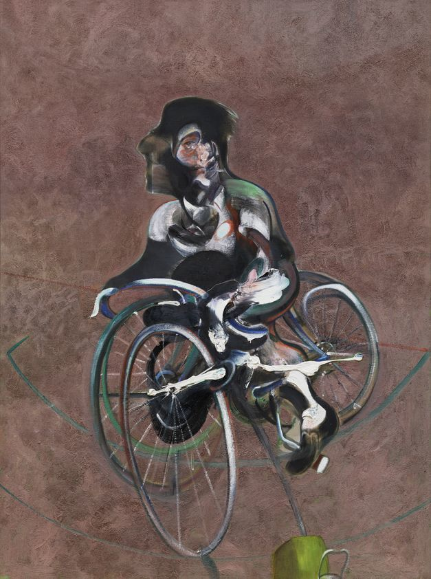 Portrait of George Dyer Riding a Bicycle, 1966