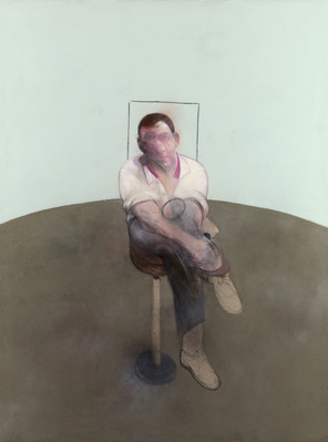 Three Studies for a Portrait of John Edwards, 1984 (centre p... By Francis Bacon