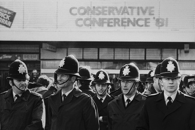 Police at Conservative Party Conference, Blackpool, October ... By Martin Jenkinson