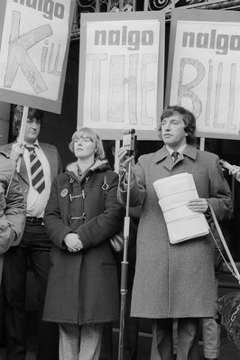 David Blunkett at a rally in support of a NALGO strike again... By Martin Jenkinson