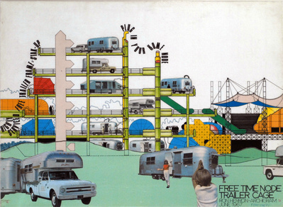 Free Time Node Trailer Cage by Ron Herron Archigram, June 19...