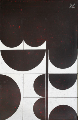 Composition in Brown and White, 1965 By Anwar Jalal Shemza