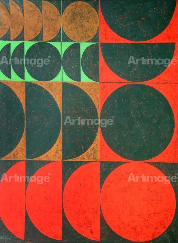 Composition in Red, Green and Yellow Ochre, 1963