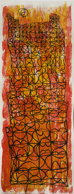 Composition in Yellow, Orange and Black, 1958