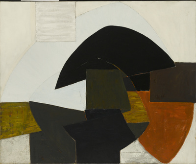 Curved Form, Black and White, 1954