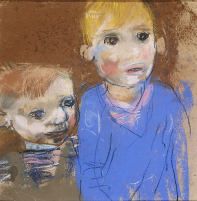 Two Boys (Glasgow Children), c.1960 By Joan Eardley