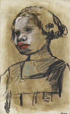 Study of a Girl, [Date unknown]