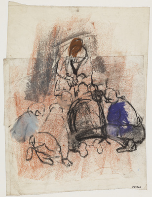 A Group of Children Playing on the Ground, [Date unknown] By Joan Eardley