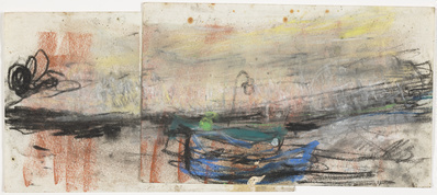 Stormy Sky over Catterline Sea Shore, [Date unknown] By Joan Eardley