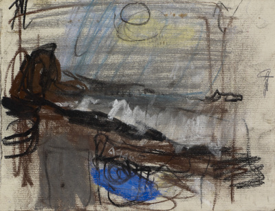 Waves Breaking on the Shore, [Date unknown] By Joan Eardley