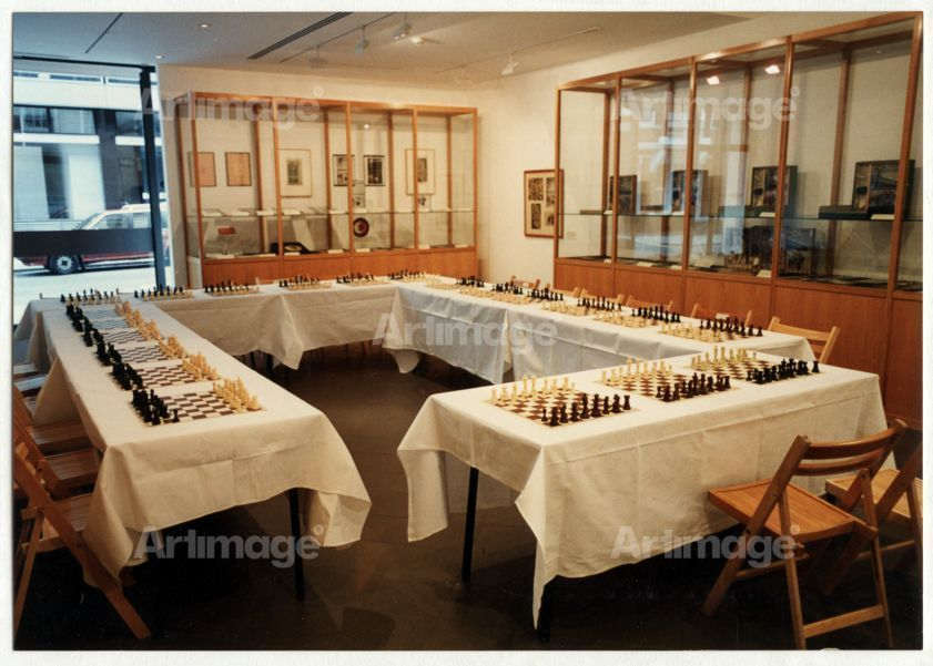 36 Hours Non Stop Chess by Barry Martin, Surrounded by Marcel Duchamp's Work, 1996