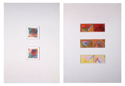 Colour Intrusions 2 (diptych), Horizontal Composition Develo...