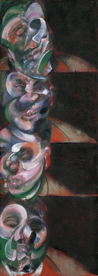 Four Studies for a Self-Portrait, 1967 By Francis Bacon