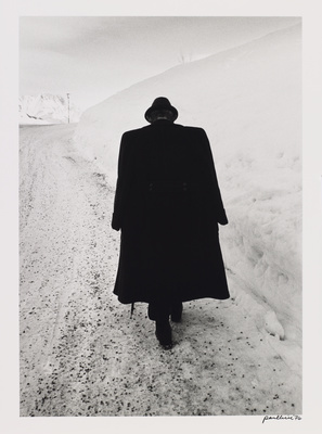 Man against snow, Austria, 1974 By Paul Hill