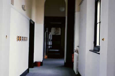 Work No. 21, An intrusion and portrusion from a wall, 1989