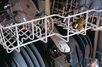 Work No. 37, Two objects in the dishwasher, 1990