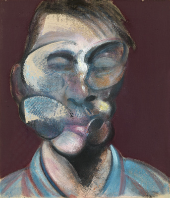 Three Studies for Self-Portrait, 1973 (centre panel)  By Francis Bacon