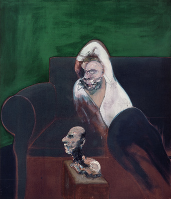 Reclining Man with Sculpture, 1960-61