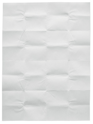 Work No. 383, A sheet of paper folded up and unfolded, 2004