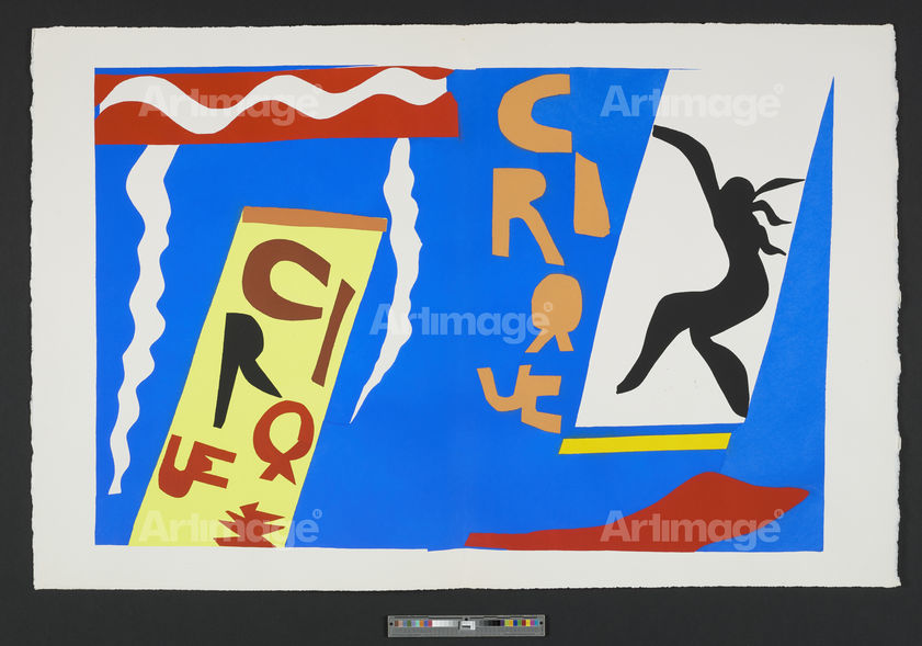 Le Cirque [The Circus], plate II of the 1947 illustrated book 'Jazz', 1947