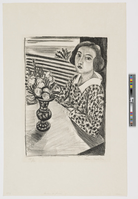 Jeune fille assise au bouquet de fleurs [Seated Girl with Bo... By Henri Matisse