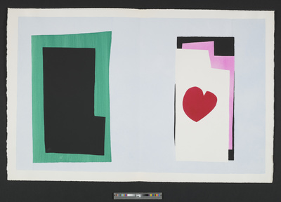 Le Coeur [The Heart], plate VII of the 1947 illustrated book... By Henri Matisse