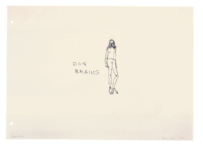 Dog Brains, 1998 By Tracey Emin
