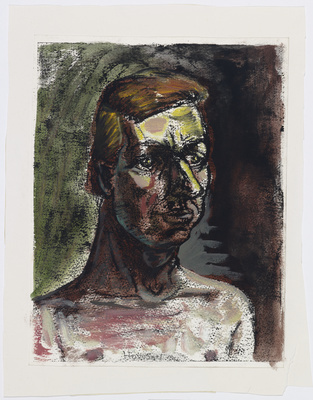 Untitled (Head), 1983 By Peter Howson