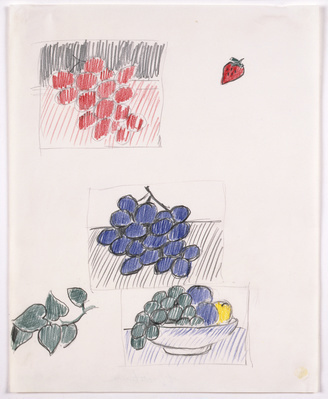 Still Life with Plums and Blue Grapes (Studies), 1972 By Roy Lichtenstein