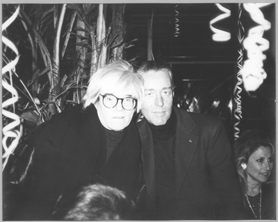 Andy Warhol and Halston, c.1986
