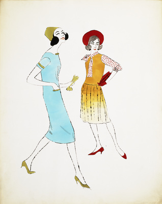 Two Female Fashion Figures, c.1960