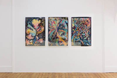 Installation view of 'Lady of the Wild Things: works from 19...