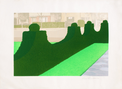 Privacy Plots V Hedge and Street, 1970 By Ivor Abrahams